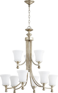 Rossington 9-light Chandelier Aged Silver Leaf