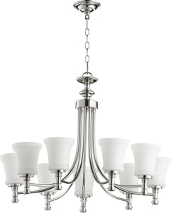 Rossington 9-light Chandelier Polished Nickel
