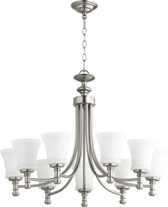 Rossington 9-light Chandelier Satin Nickel