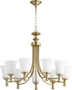 Rossington 9-light Chandelier Aged Brass