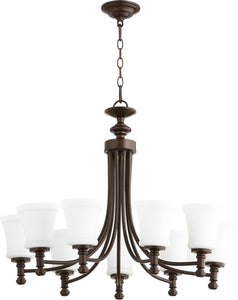 Rossington 9-light Chandelier Oiled Bronze