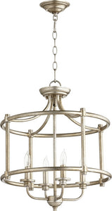 Rossington 4-light Dual Mount Light Fixture Aged Silver Leaf