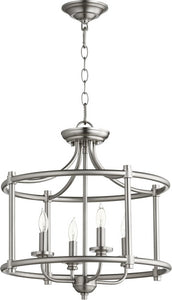 Rossington 4-light Dual Mount Light Fixture Satin Nickel
