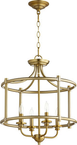 Rossington 4-light Dual Mount Light Fixture Aged Brass