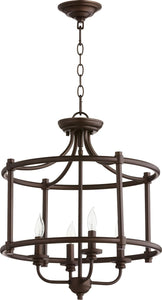 Rossington 4-light Dual Mount Light Fixture Oiled Bronze