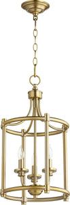 Rossington 3-light Entry Foyer Hall Chandelier Aged Brass
