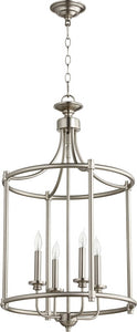Quorum Rossington 4-light Entry Foyer Hall Chandelier Satin Nickel