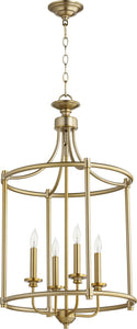 Quorum Rossington 4-light Entry Foyer Hall Chandelier Aged Brass
