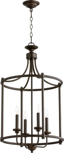 Quorum Rossington 4-light Entry Foyer Hall Chandelier Oiled Bronze