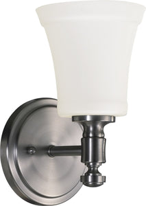 Quorum Rossington 1-light Wall Mount Light Fixture Satin Nickel