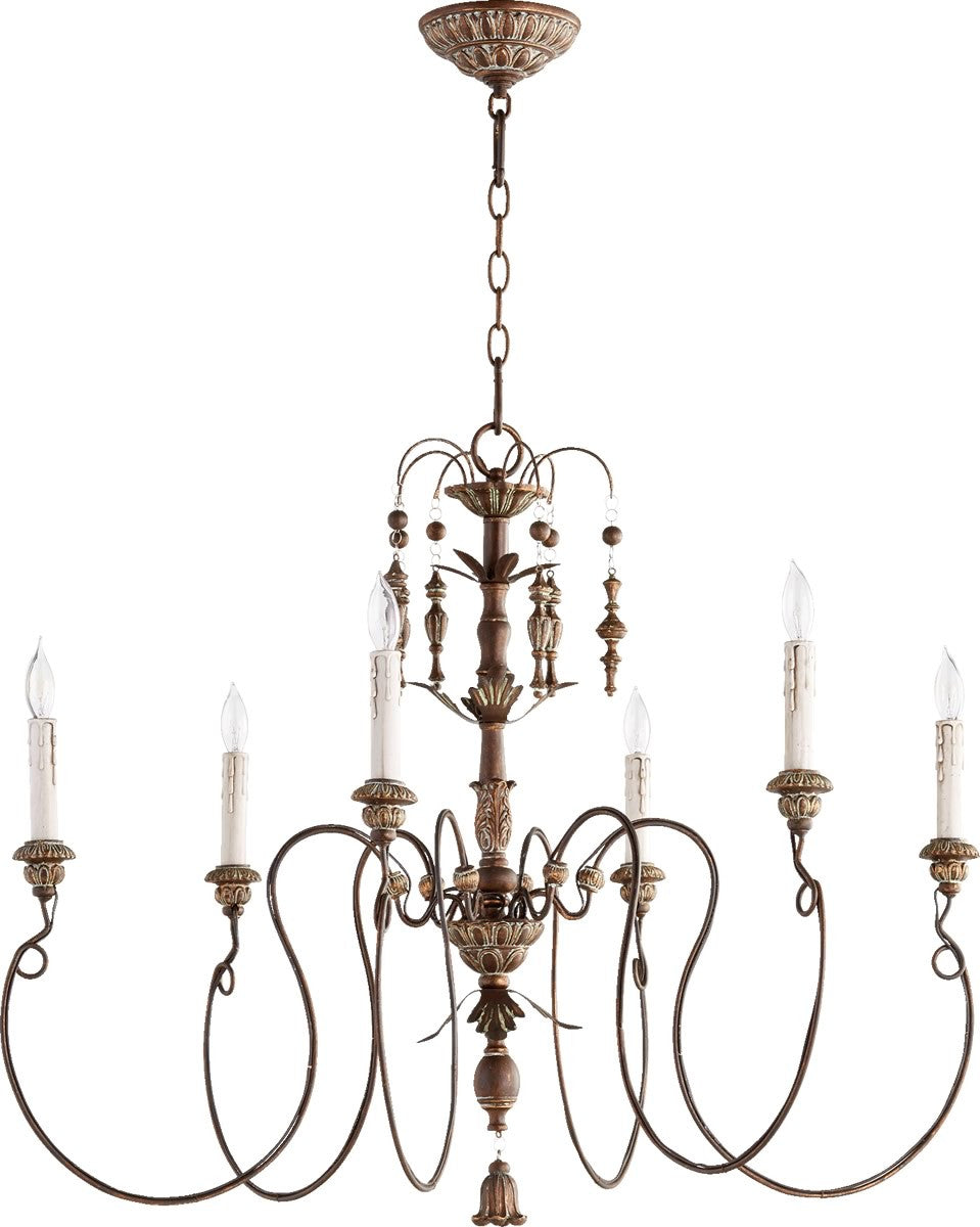 "32""W Salento 6-Light Chandelier Vintage Copper"