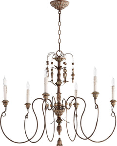 Quorum Salento 6-Light Chandelier Vintage Copper 6006-6-39