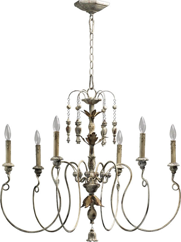 "32""W Salento 6-Light Chandelier Persian White"