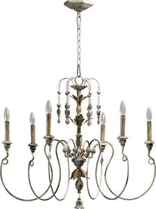 Quorum Salento 6-Light Chandelier Persian White 6006670