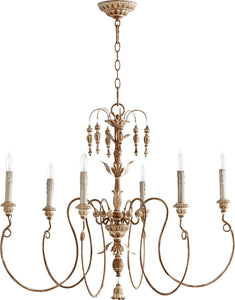 "32""w Salento 6-Light Chandelier French Umbe8"