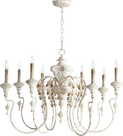 "38""w Salento 8-Light Chandelier Persian White"