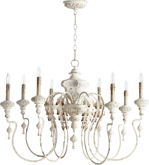Quorum Salento 8-Light Chandelier Persian White 6006870