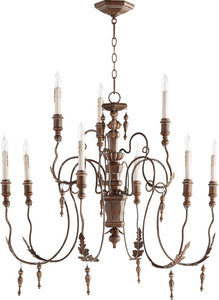 Quorum Salento 9-Light Chandelier Vintage Copper 6006-9-39