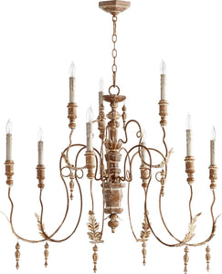 "32""w Salento 9-Light Chandelier French Umber"
