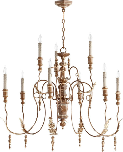 Quorum Salento 9-Light Chandelier French Umber 6006994