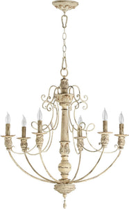 Quorum Salento 6-Light Chandelier Persian White 6106670
