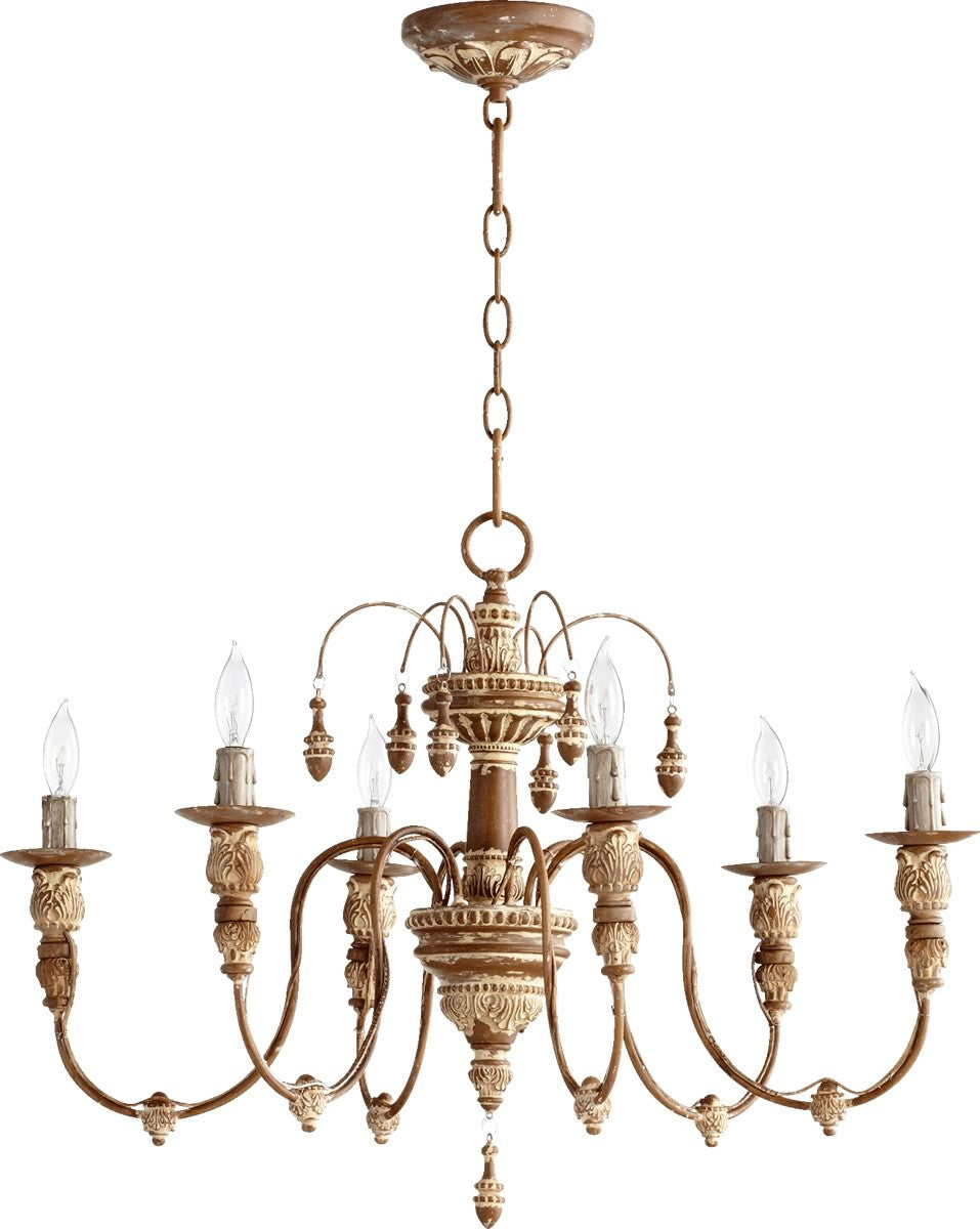 Quorum Salento 6 Light Chandelier French Umber 6316 6 94
