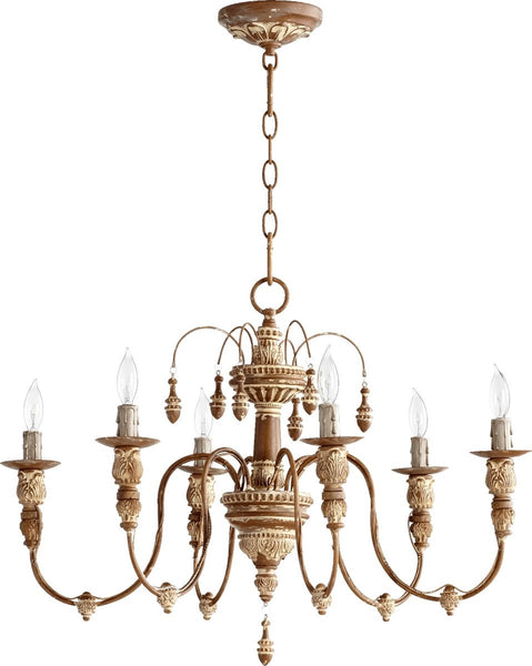 Quorum Salento 6-Light Chandelier French Umber 6316694