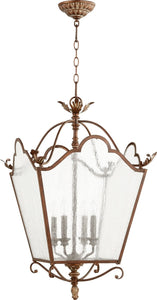 Quorum Salento 4-Light Chandelier Vintage Copper 6906-4-39