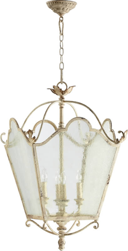 "19""W Salento 4-Light Pendant Pachment White"