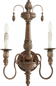 Quorum Salento 2-Light Wall Sconce Vintage Copper 5506-2-39