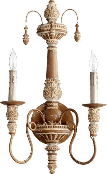Quorum Salento 2-Light Wall Sconce French Umber 5506294