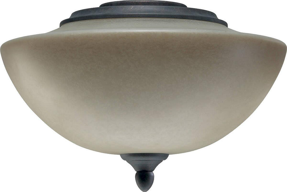 "12""w Salon 2-Light Ceiling Fan Light Kit Toasted Sienna"