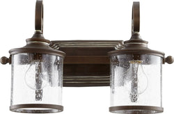 Quorum San Miguel 2-light Bath Vanity Light Vintage Copper