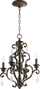 San Miguel 4-light Chandelier Vintage Copper