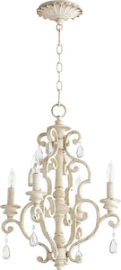 Quorum San Miguel 4-light Chandelier Persian White