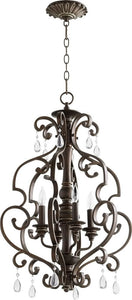 San Miguel 4-light Entry Foyer Hall Chandelier Vintage Copper