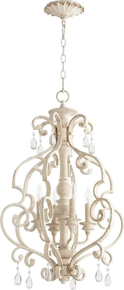 "19""W San Miguel 4-light Entry Foyer Hall Chandelier Persian White"