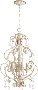 Quorum San Miguel 4-light Entry Foyer Hall Chandelier Persian White