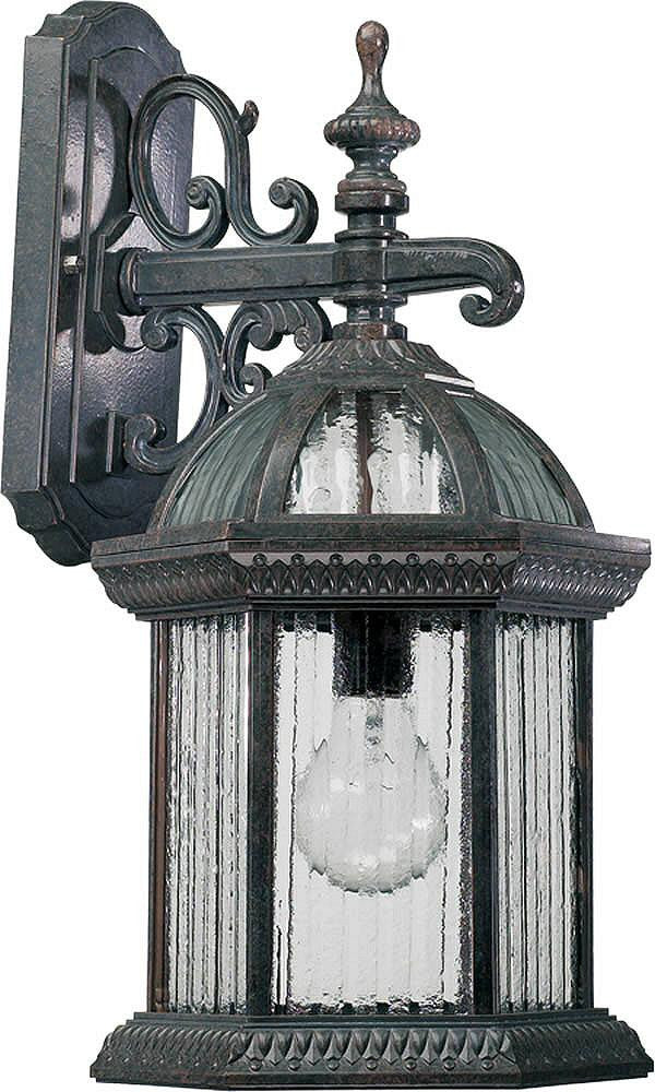 "19""H Stelton 1-Light Outdoor Wall Lantern Baltic Granite"