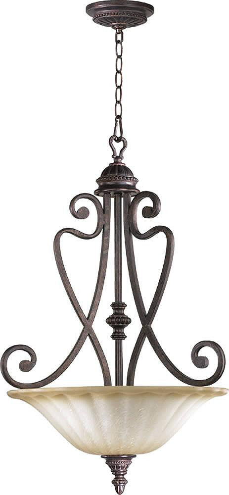 "20""w Summerset 4-Light Pendant Toasted Sienna"