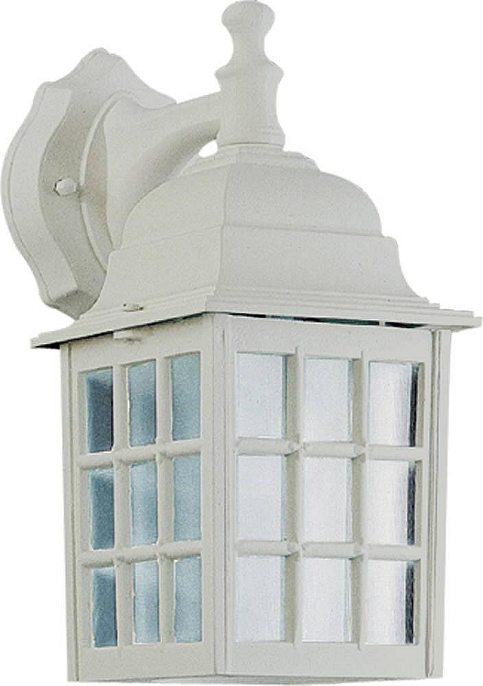 "12""H Thomasville 1-Light Outdoor Wall Lantern White"