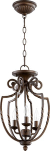 Quorum Tribeca II 3-Light Chandelier Oiled Bronze 6778386