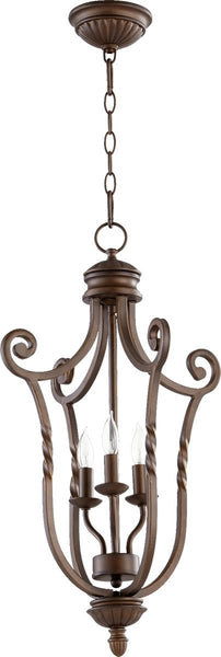 "15""w Tribeca II 3-Light Chandelier Oiled Bronze"
