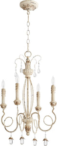Quorum Venice 4-Light Chandelier Persian White 6044-4-70