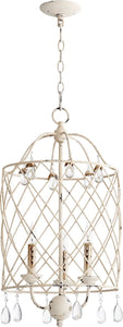 Quorum Venice 3-Light Chandelier Persian White 6944-3-70