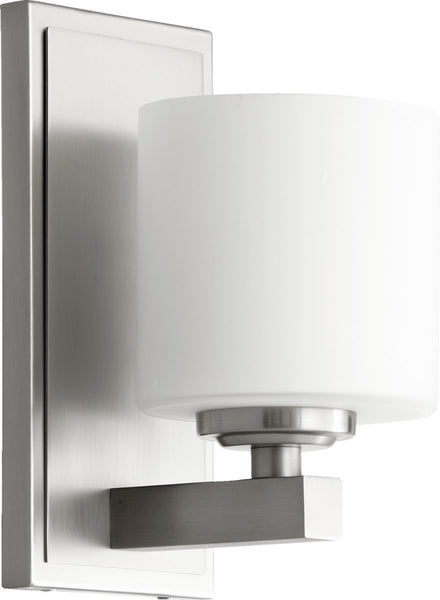 Quorum 1-Light Wall Sconce Satin Nickel 5669165
