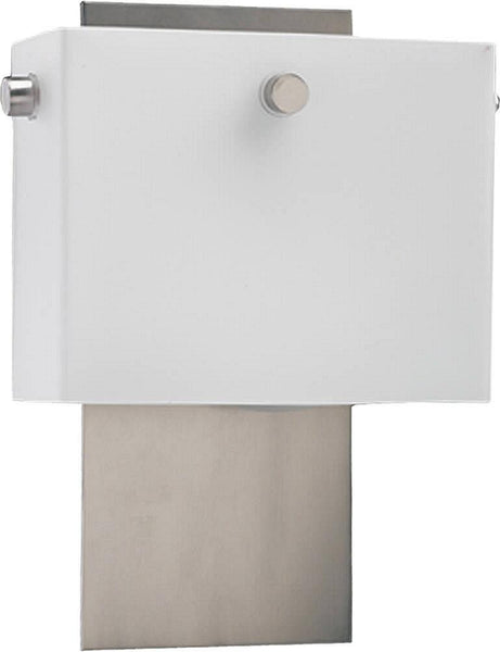 Quorum Flatiron 2-Light Wall Sconce Satin Nickel 57365