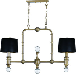 Maxim Saloon 2-Light Pendant 22422CLWBR