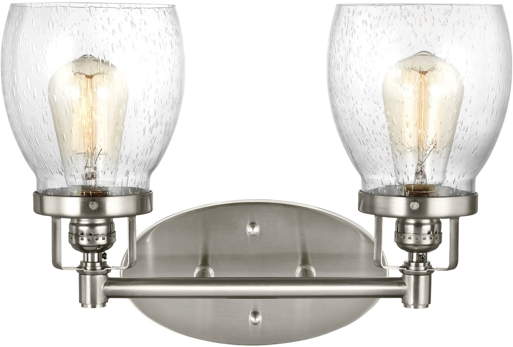 "15""W Belton 2-Light Bath Vanity Brushed Nickel"