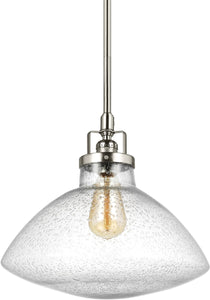 Sea Gull Lighting Belton 1-Light Pendant Brushed Nickel